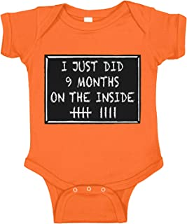 Amdesco I Just Did 9 Months On The Inside Halloween Infant Bodysuit