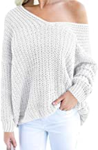 Best chunky knit off the shoulder sweater Reviews
