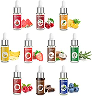 Nomeca Food Flavoring Oil Candy Flavors, Strawberry Vanilla Coconut Cherry Extracts for Baking Cooking and Lip Gloss Makin...