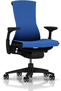 Herman Miller Embody Ergonomic Office Chair | Fully Adjustable Arms and Translucent Casters | Berry Blue Balance