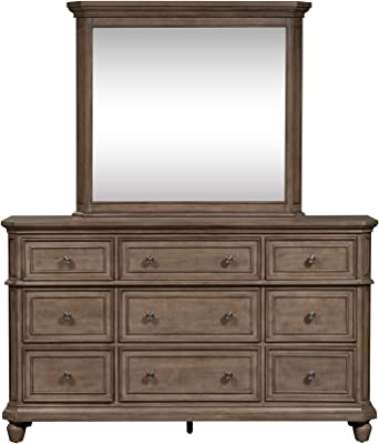 Liberty Furniture Industries Laurels Dresser & Mirror, Brown
