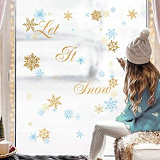 Decalplanet Pegatinas Decorativas de Copo de Nieve Adorno Navideño Accesorio de Decoración Stickers Pegatinas de Pared Nav...