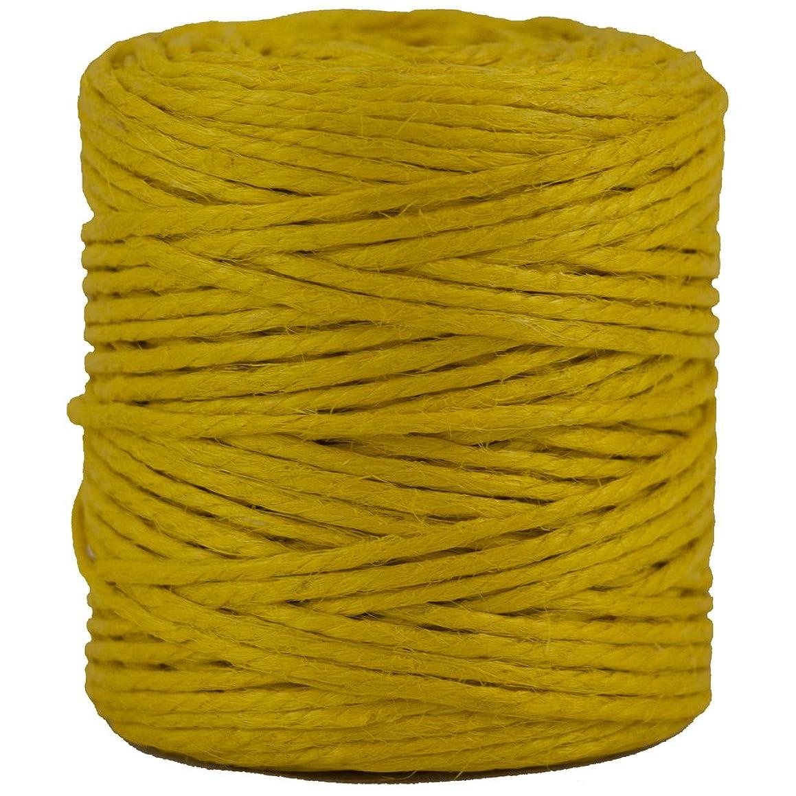 JAM PAPER Kraft Twine - 1/8 x 73 yards - Yellow - Sold Individually
