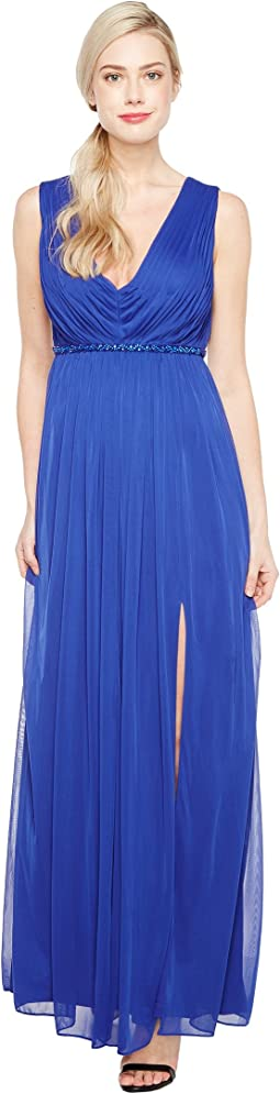 Shirred Stretch Tulle Gown