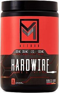 Hardwire - Premium Energy & Focus - Infinergy Caffeine, Teacrine, Huperzine, Choline, BCAA, Green Tea, Taurine, Superfruit Antioxidants, Electrolytes - 30 Servings (Paradise Punch)