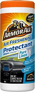 Armor All 17425 Air Freshening Protectant Wipes, Pure Linen Scent - 25 sheets