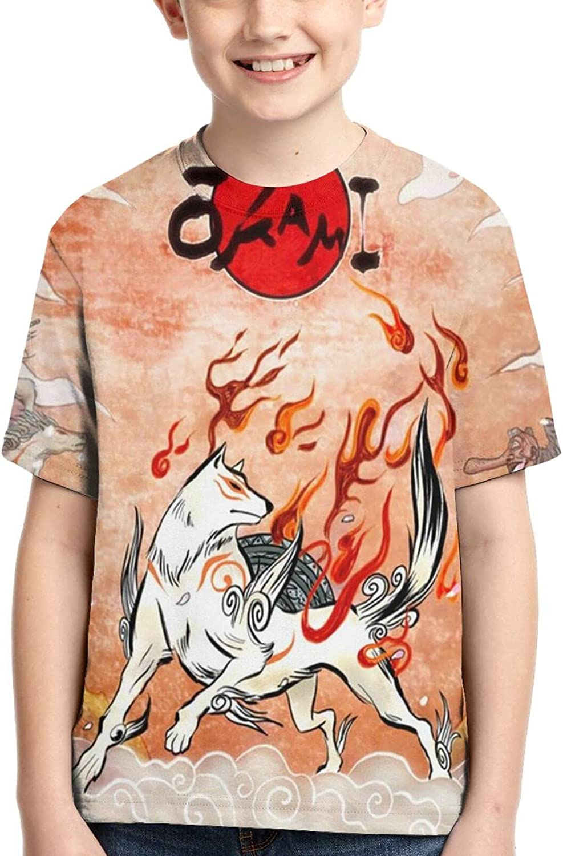 Okami T Shirt,3D Print Funny Polo Shirts Short Sleeve Tops,for Youth Tee Boys Girls