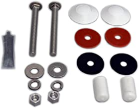 Inter-Fab DB-TB-M Two Bolt Replacement Residential Pool, White Diving Board Mounting Kit