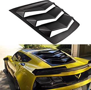 Rear Window Louver Matte Black ABS Sun Shade Cover for 2014-2019 C7 Corvette Stingray, Z51, Z06, ZR1, Grand Sport