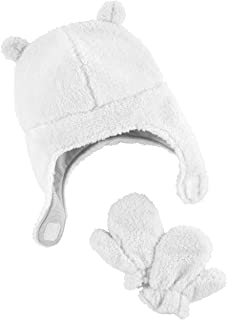 Simple Joys by Carter's Hat And Mitten Set Unisex-Neonato, Pacco da 2
