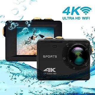 Cámara de acción 4K, Vmotal GSV8580 WiFi Ultra HD 16MP Cámara de acción a Prueba de Agua con Lente Gran Angular de 150 Grados, Pantalla LCD de 2,0 Pulgadas Cámara subacuática Deportiva Videocámara