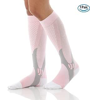 Compression Socks Sports Men Women Calf Shin Leg Running Fitness Cross Fit (S~XL)