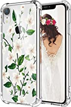 Hepix Pear Flowers iPhone XR Case Floral Clear XR Phone Cases, Pretty iPhone 10 Xr Cases for Girls Women, Slim Flexible TPU Frame Anti-Scratch
