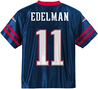 Outerstuff Julian Edelman New England Patriots #11 Navy Blue Youth Home Player Jersey
