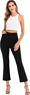 Flare Pants for Women Stretch Pull-on Pants Ease into Comfort Office Black Ankle Pants