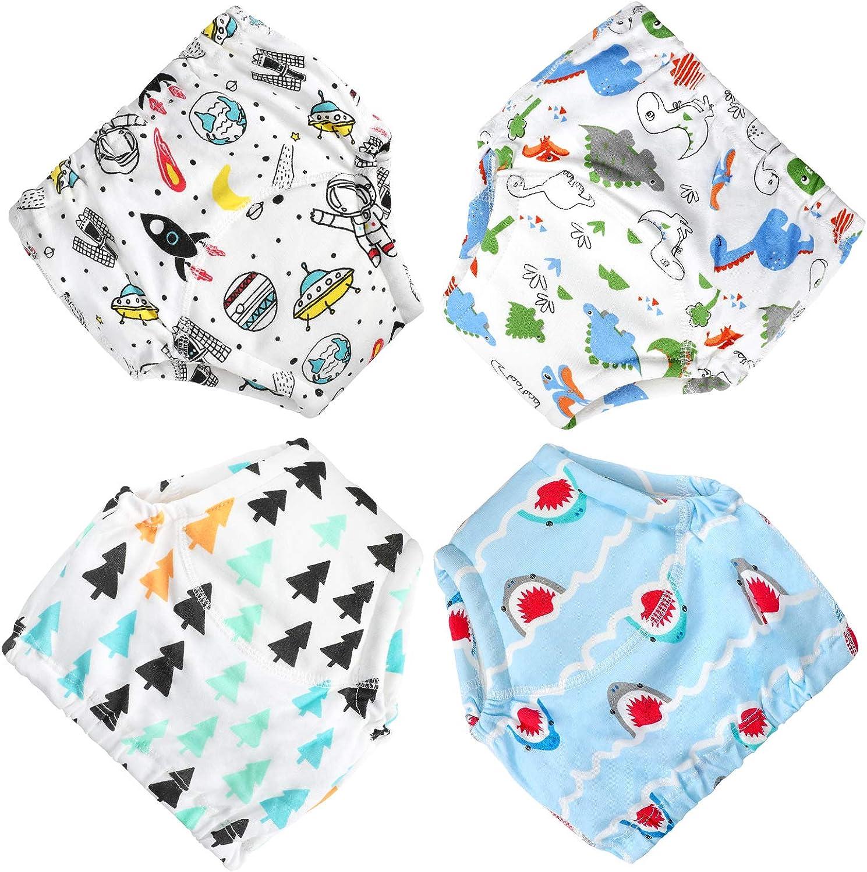 6 pantalones de entrenamiento para beb/é ropa interior de entrenamiento para ni/ños Flyish ropa interior para ni/ños y ni/ñas pa/ñales antigoteo de 2 a 5 a/ños