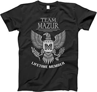 Team Mazur Lifetime Member Family Surname T-Shirt for Families with The Mazur Last Name