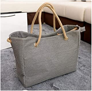Women Bag Canvas Shoulder Bag Clutch Handbag Female Shopping Bag Travel Summer Beach Bag