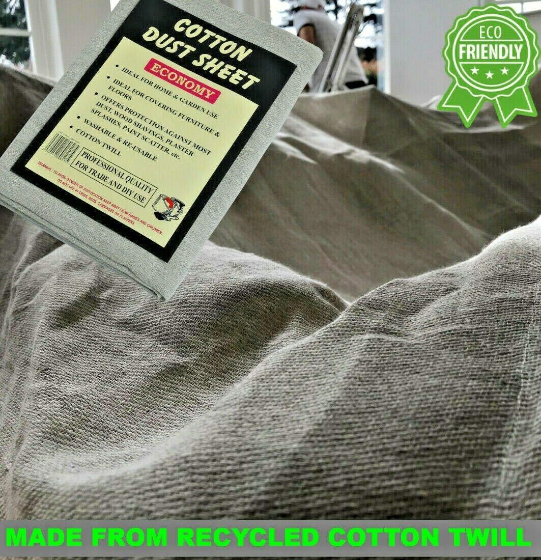 3 hojas de sarga de algodón resistente.Tamaño:3,65 m x 1,82 m aprox.(Paquete de 3 láminas antipolvo): Amazon.es: Bricolaje y herramientas