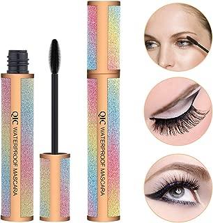 Midenso 4D Lash Mascara Silk Fiber Eyelash Mascara Waterproof Thicker Longer Voluminous Eyelashes Makeup Long Lasting with Hypoallergenic Ingredients Non-toxic and Natural (Champagne Gold)