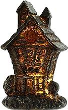 Halloween Decor Hars Schedel Haunted House Beeldjes met LED-verlichting, Enge Ornamenten voor Indoor Halloween Party Decor...
