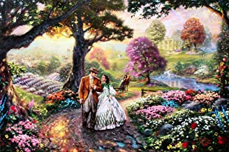 Thomas Kinkade Gone with The Wind 18x27 Artist Proof Limited Edition Lithograph on Paper Artwork