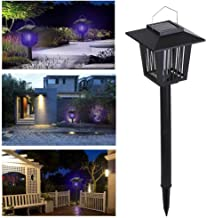 Lixada Bug Zapper Light,Solar Landscape Spotlights,2-in-1 Waterproof Solar Powered LED Light Electric Lamp for Yard Garden Driveway Porch Walkway Pool Patio