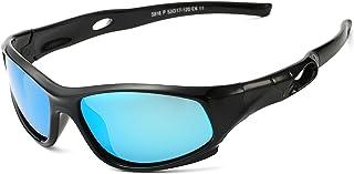 AZORB Sports Polarized Kids Sunglasses TPEE Rubber Flexible Frame for Children Age 3-10