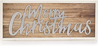 ReLive Decorative Expressions - 11x27 Decorative Wooden Sign Merry Christmas Shimmer