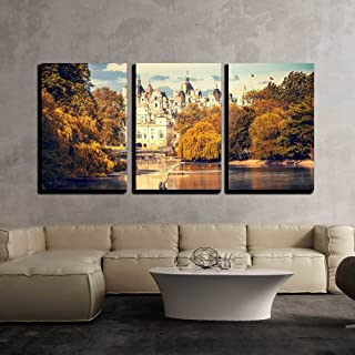 wall26 - 3 Piece Canvas Wall Art - St James Park in London, UK - Modern Home Decor Stretched and Framed Ready to Hang - 24