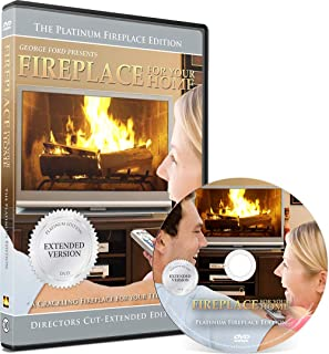 Fireplace DVD: For Your Home Platinum Series - Directors Cut - Long play Burning wood