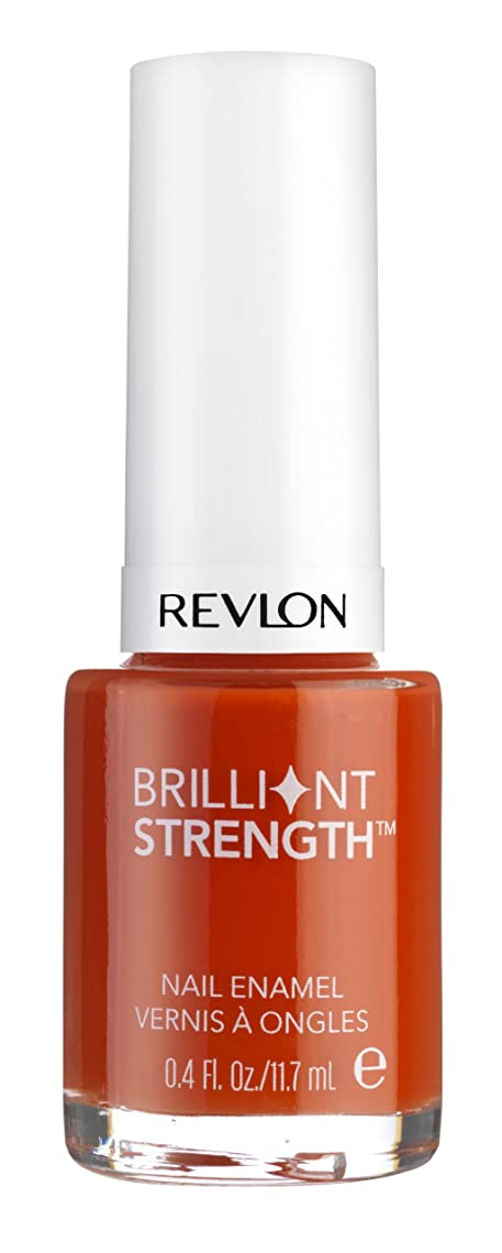ポケット合法困ったREVLON BRILLIANT STRENGTH NAIL ENAMEL #130 INFLAME