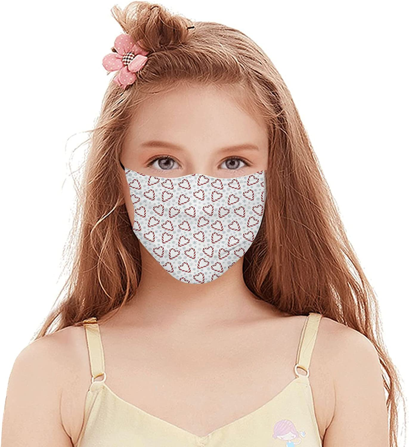 Face Mask Balaclava Windproof Kids Teens,Dustproof Mouth Cover with Filter Pocket Adjustable Elastic Strap
