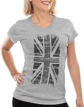 style3 Vintage Union Jack Pabellón Camiseta para Mujer T-Shirt
