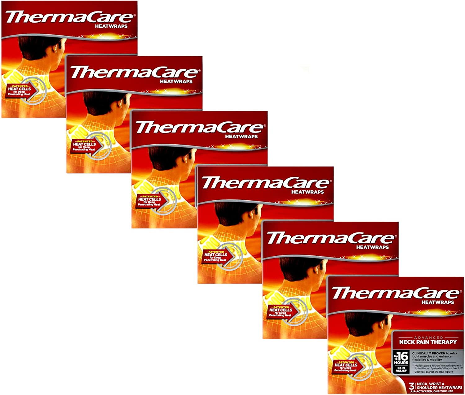 OFFicial store ThermaCare Air-Activated Heatwraps Neck Pack Some reservation Shoulder Wrist