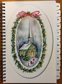 Christmas Card Address Book List Organizer with A-Z Tabs Church Personalized Gift