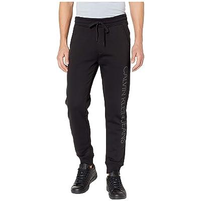 Calvin Klein Jeans Reflective Logo Fleece Sweatpants (Black) Men