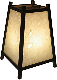手作り行灯「台形」Mサイズ (手漉き名尾和紙繊維入り落水紙)高さ34cm 末広がりの安定した形 贈答品などにお薦めです ADDM-002