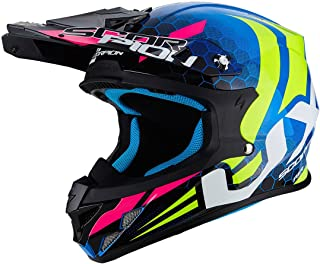 <h2>Scorpion Motorradhelm VX-21 Air Xagon, blau-Neongelb, Größe M</h2>