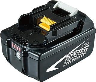 Dosctt BL1860B 5.5Ah Reemplazo para Makita 18V Batería BL1860 BL1850 BL1850B BL1830 BL1830B BL1840 BL1815 BL1825 BL1835 BL...