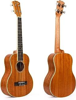 Kmise Matt Solid Mahogany Tenor Ukulele 26 inch Hawaii Guitar Rosewood Bridge With Aquila Strings (Ukulele-A8)