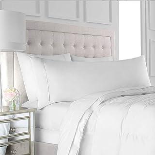 (50cm x 150cm , White) - Egyptian Luxury Soft Brushed Microfiber Body Pillow Pillowcase - Hypoallergenic Non-Zippered Hote...