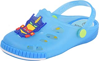 Yellow Bee Robot LED Clogs for Boys, Blue