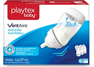 Playtex Baby VentAire Bottle, Helps Prevent Colic and Reflux, 9 Ounce Bottles, 3 Count