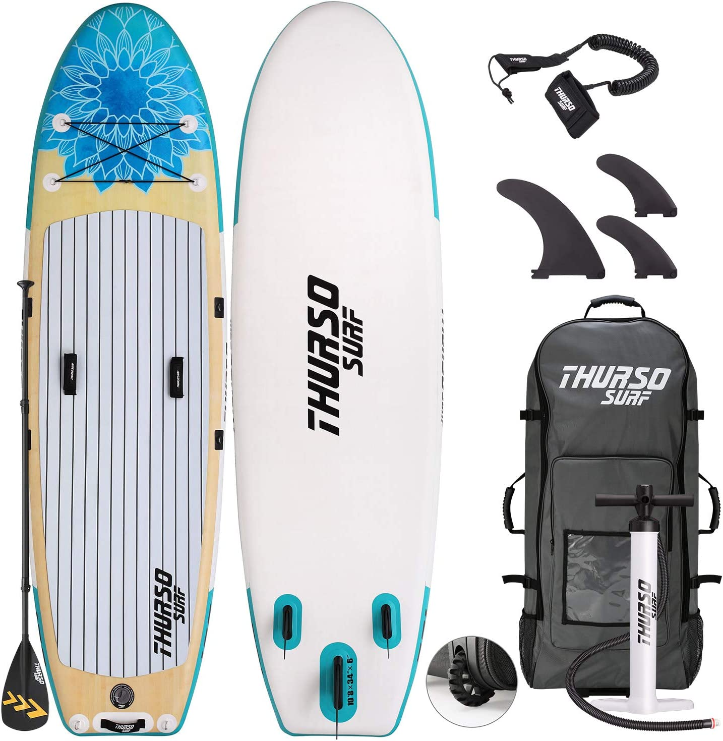 THURSO SURF Tranquility お得セット Yoga Inflatable Paddle ◇限定Special Price Board SU Up Stand