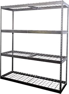 SafeRacks 2x6x7 Garage Shelving - Hammertone Bolted Shelving Rack (24