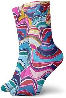 Tammy Jear, Calcetines de hombre y mujer Calcetines divertidos de colores Impresiones de artes geométricas Calcetines de trabajo clásicos