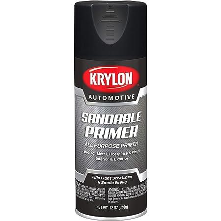 Krylon Automotive Sandable Primer, 12 oz, KA8611007, Black Sandable Primer
