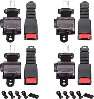 10L0L Golf Cart Seat Belt, 42' 4 PCS Universal Front Rear Seat Belt Kit for Club Car EZGO Yamaha