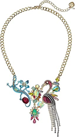 Colorful Stone and Critter Bib Necklace
